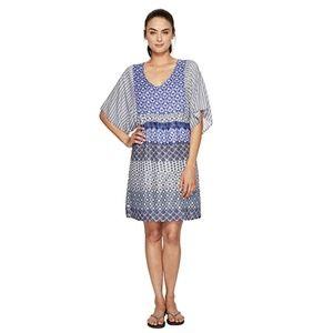 New Prana Kyrie Dress Large Cobalt Blue $89 Dolman